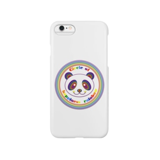 NK♥LOVEのCircle of happiness rainbow <panda> Smartphone cases