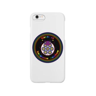 NK♥LOVEのCircle of happiness rainbow<ladybug black> Smartphone cases