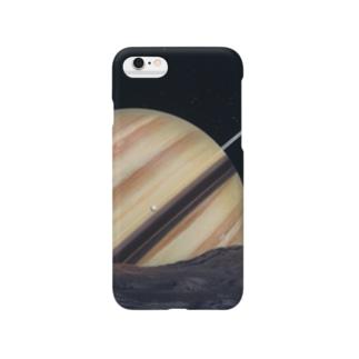 岩崎賀都彰 宇宙細密画 テチス衛星の情景 Smartphone cases