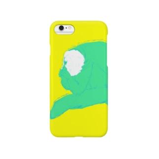 ポップなおサル/シロガオサキ Smartphone cases