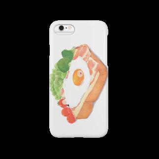 あやぺがはくのおみせの【TOMOGUI】ベーコンエッグトースト Smartphone cases