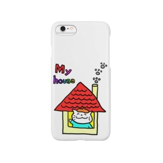 えかきにゃんこマイハウス Smartphone cases