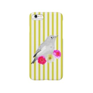 メジロ【NAYO-SMP-WHITE-EYE01】 Smartphone cases