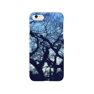 blue tree スマートフォンケース