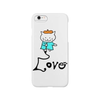 えかきにゃんこLove Smartphone cases