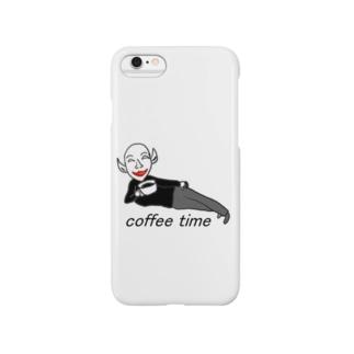 コーヒーを飲む肉欲様 Smartphone cases