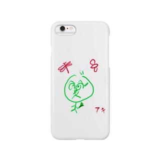 えかきにゃんこのお店♪の絶望的な気持ちで花束を持っていくアキ Smartphone cases