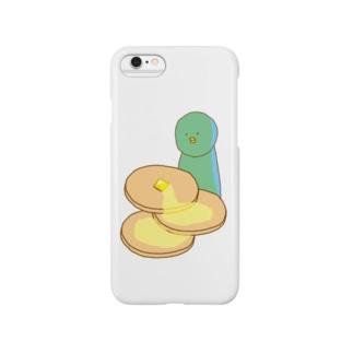 ホットケーキが食べたいペンギンの Smartphone cases