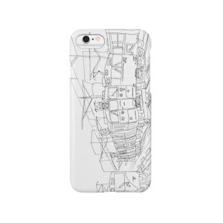 くもりのなかを走る115系ヨコ Smartphone cases