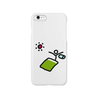 【棒人間スタンプ】寝起き Smartphone cases
