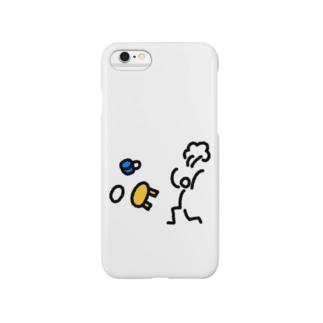 【棒人間スタンプ】ちゃぶ台返し Smartphone cases