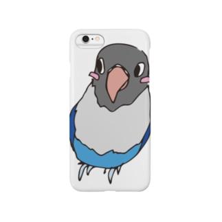 ブルーボタンインコさん Smartphone cases