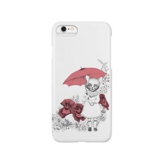 ネコと傘 Smartphone cases