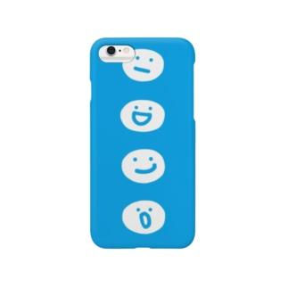 まるてん達 ブルー Smartphone cases