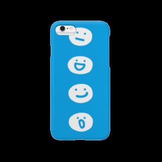 たまご食パンのまるてん達 ブルー Smartphone cases