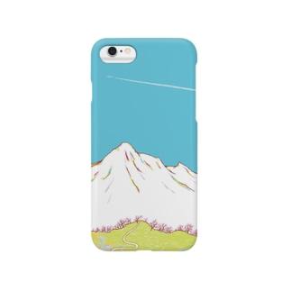 春のやま Smartphone cases