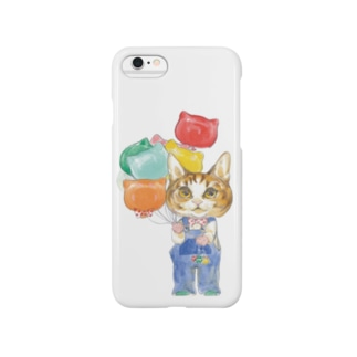 子猫と風船 スマートフォンケース