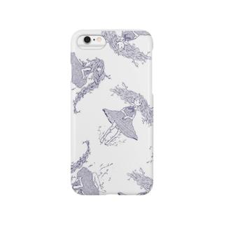 植物少女 白 Smartphone cases