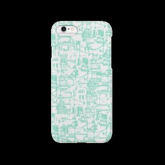 埃溜まりのベランダと配線(水色) Smartphone cases