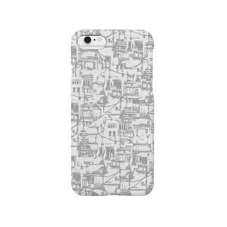 ベランダと配線(モノクロ) Smartphone cases