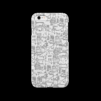 埃溜まりのベランダと配線(モノクロ) Smartphone cases