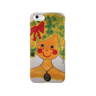 pokkeの知的な女の子 Smartphone cases