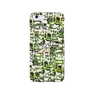 ベランダと配線(オレンジ・緑) Smartphone cases