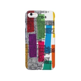 都会(ヨコ) Smartphone cases