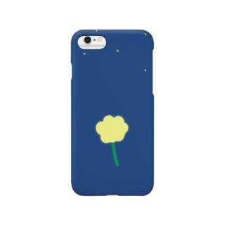 夜空に浮かぶ一輪の花 Smartphone cases