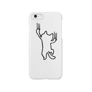 よじ登る猫 Smartphone cases