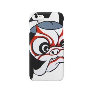 かめパグ屋の歌舞伎パグ Smartphone cases