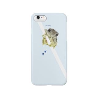 かえる 青 Smartphone cases