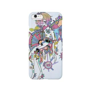 歯車ちゃん③白 Smartphone cases