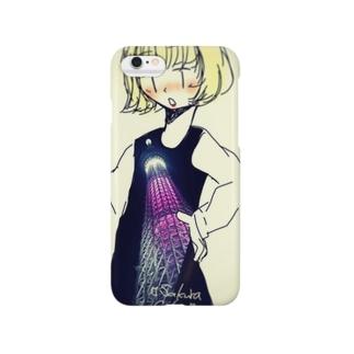 夜空の桜の木 Smartphone cases