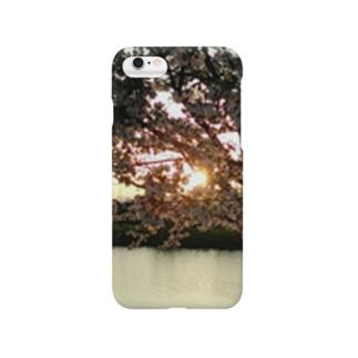 夕陽と桜 Smartphone cases