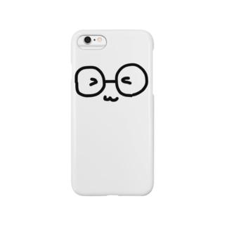 メガネまんじゅう(いつもニコニコ) Smartphone cases