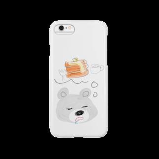 YOSHIKO KUGAの甘党くま Smartphone cases