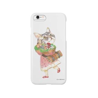 子猫とピクニック スマートフォンケース