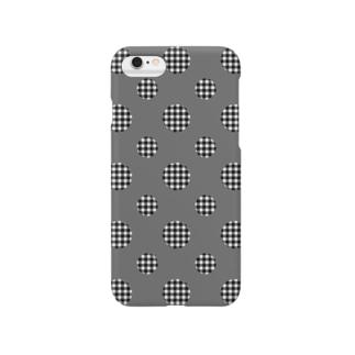 Polka Dots(Black Gingham) Smartphone cases