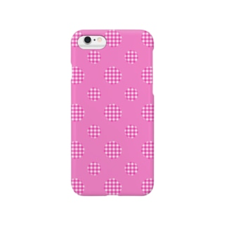 レオナのPolka Dots(Pink Gingham) Smartphone cases