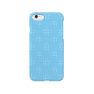 Polka Dots(Blue Gingham) Smartphone cases