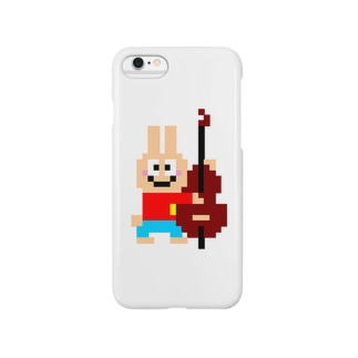 ベース大好きうさぎさん Smartphone cases