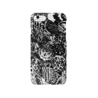 フクロウ柄 Smartphone cases