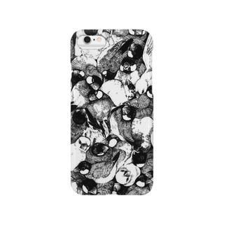 文鳥柄 Smartphone cases
