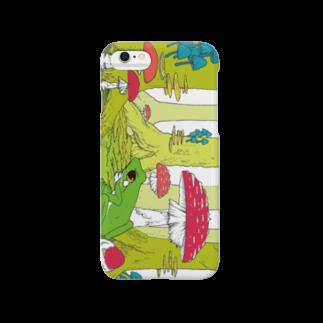 引田玲雄 / Reo Hikitaのカエルくん(緑横背景切り取りver) Smartphone cases