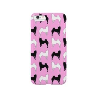 柴犬ピンク Smartphone cases