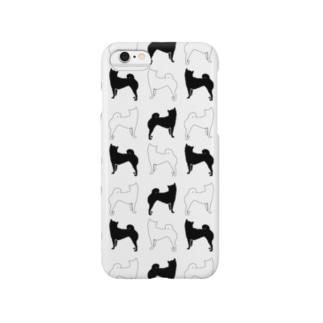柴犬パターン2 Smartphone cases
