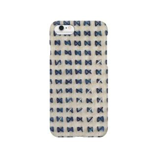 刺し子のリボン Smartphone cases