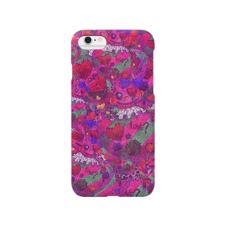 """ゐろゐろ屋の""""LOVE?""""うさぎだらけ(PINK) Smartphone cases"""