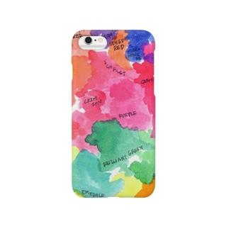 色の地図 無人ver Smartphone cases